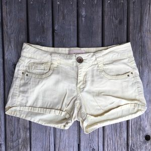 💥5/$25 Rewind Mid-Rise Yellow Bow Tie Shorts
